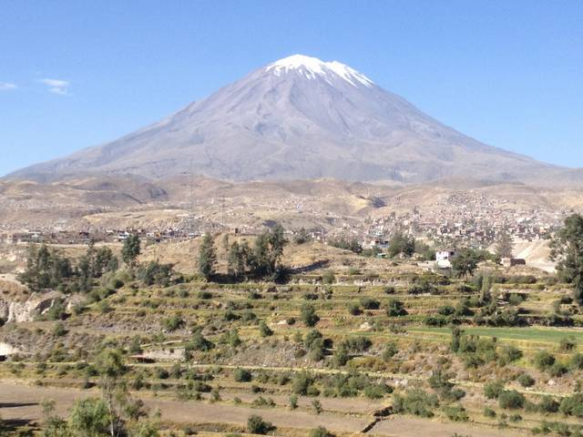 Nahaufnahme Vulkan El Misti