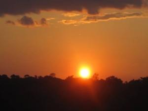 Naturschauspiel Sonnenuntergang